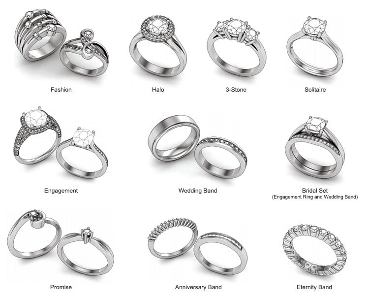 ring_styles wedding engagement anniversary